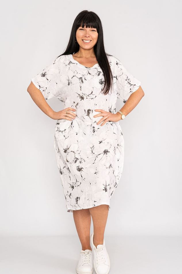 Picture of Floral Linen Dress