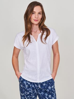 Picture of White Stuff Nelly Notch Embroidered Tee