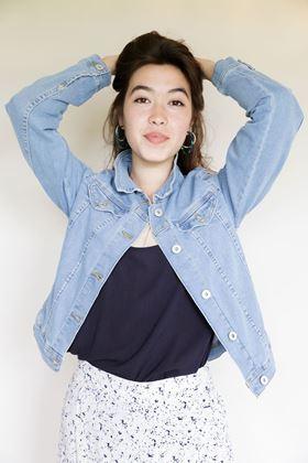 Picture of Ichi Stampe Denim Jacket