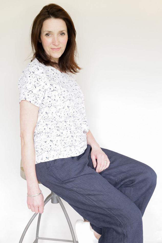 Picture of Ichi Vinna Short Sleeve Blouse