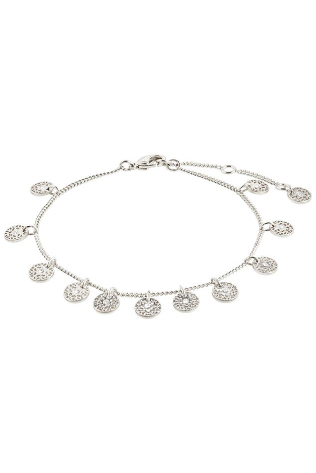 Picture of Pilgrim Carol Small Filigree Coins Silver-Plated Bracelet