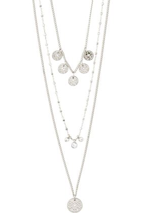 Picture of Pilgrim Carol Layered 3-in-1 Silver-Plated Necklace