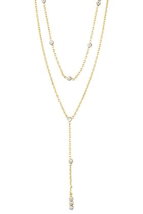 Picture of Pilgrim Kamari Chain Crystal Gold-Plated Necklace