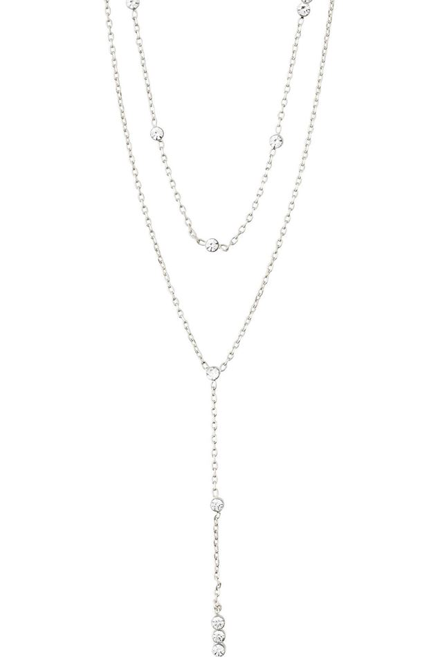 Picture of Pilgrim Kamari Chain Crystal Silver-Plated Necklace