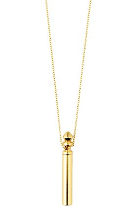 Picture of Pilgrim Reconnect Tube Gold-Plated Pendant Necklace