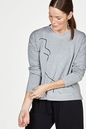 Picture of Thought Life Drawing Bamboo Fleece Sweater