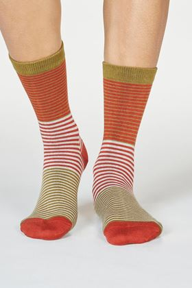 Picture of Thought Kathleen Bamboo Organic Cotton Stripe Socks