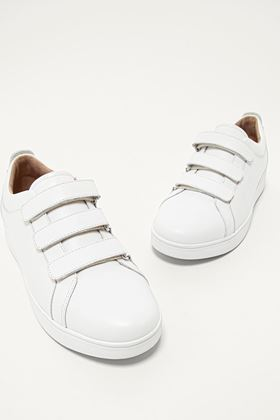 Picture of FitFlop Rally Velcro Strap Leather Trainers